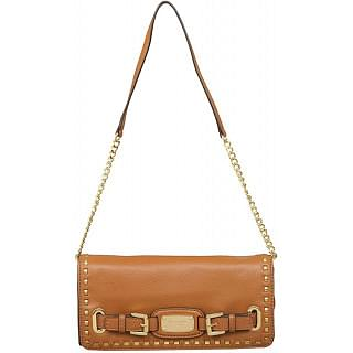 Michael Kors Hamilton Whipped Luggage Brown Clutch