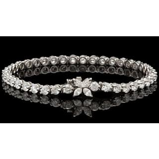 Tiffany & Co. Diamond Victoria Line Tennis Bracelet
