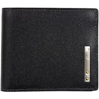 Cartier Santos 6cc Card Black Leather Wallet