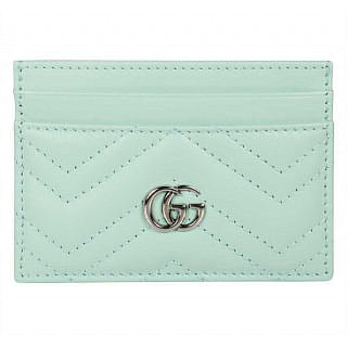 Gucci Pastel Green GG Marmont card case
