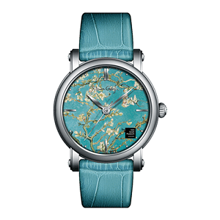 Van Gogh Almond Blossom Leather Watch (Lady 09)