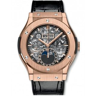 Hublot Classic Fusion Aerofusion Moon Phase King Gold Watch