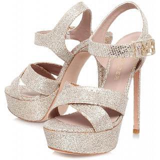 Kurt Geiger London Blossom Glitter High Heel Platform Sandals
