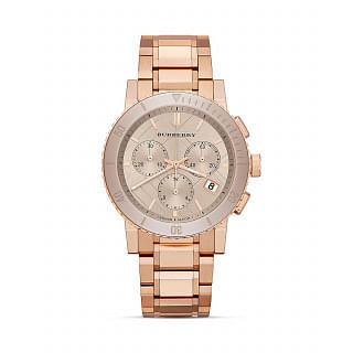 Burberry Rose Gold Tone Chronograph Watch, 38mm