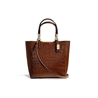 Coach Madison Mini North/South Croc Embossed Bonded Tote