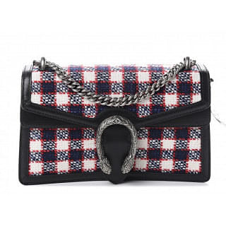 Gucci Dionysus Check Tweed Small Shoulder Bag