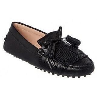 Tods Gommino Fringed Tassel Bow Loafers