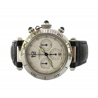 Cartier Pasha Chronograph Steel Automatic Mens Watch 2113