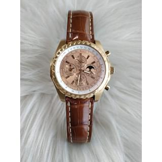 Breitling 18K Pink Gold Limited Edition Automatic Perpetual Calendar Chronograph Watch