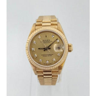 Rolex Presidential 18K Gold Diamond Dial Datejust 69178