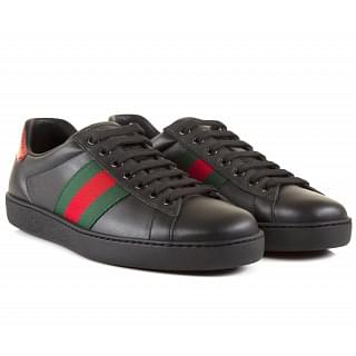 Gucci Ace Black Leather Sneaker