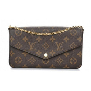 Louis Vuitton Felicie Monogram Canvas Pochette Chain Wallet