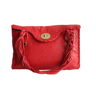'All You Need Comes With Me' Red Handbag