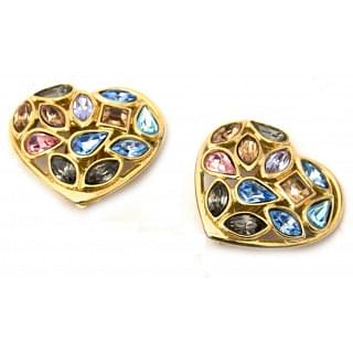 Yves Saint Laurent Clips Heart Earrings
