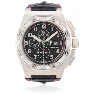 Royal Oak Offshore Shaquille O'Neal Limited Edition White Gold with Diamond Bezel