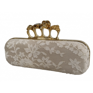 Alexander McQueen Knuckle Duster Lace Box Clutch