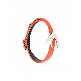 Alexander Mcqueen McQ Orange Swallow Double Wrap Bracelet