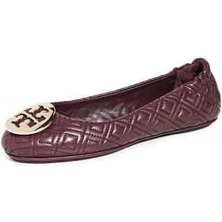 Tory Burch Womens Qusilted Minnie Flats