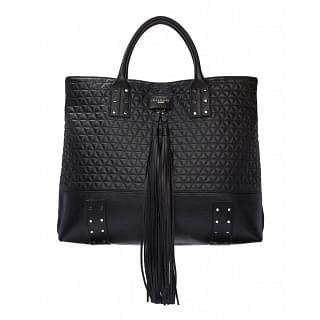Balmain Domaine Black Quilted Leather Tote