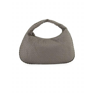 Bottega Veneta Steel Intrecciato Nappa Large Bag