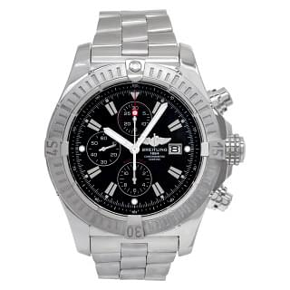 Breitling Super Avenger 48MM A13370 Steel Black Dial Automatic