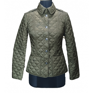 Burberry Olive Green Quilted Jacket