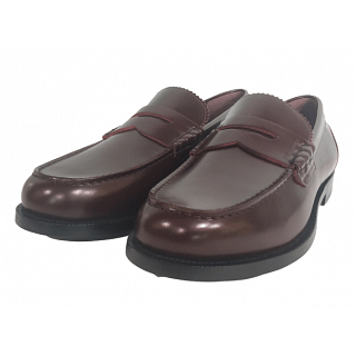Burberry Bedmont Burgundy Penny Leather Loafers
