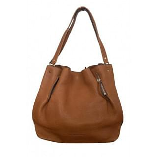Burberry Brown House Check Canvas and Leather Maidstone Tote