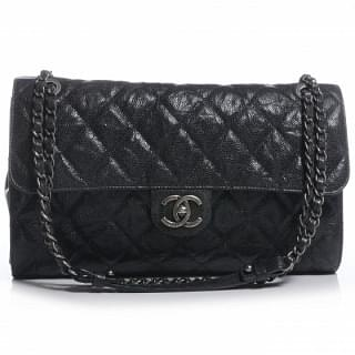 CHANEL Caviar CC Crave Large Flap Black