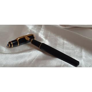 Cartier Diabolo MINI Black Gold Trim 18kt Fountain Pen