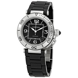 CARTIER Pasha Seatimer Steel Rubber Men's Watch