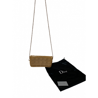 Dior Patent Leather Flap Chain Clutch