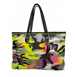 Dior Canvas Camouflage Anselm Reyle Large Tote