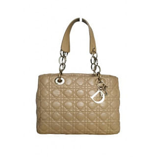Dior Cannage Quilted Lambskin Leather Soft Tote