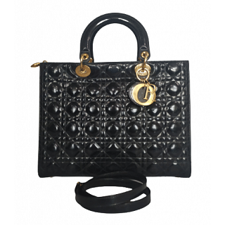 Dior Patent Leather Lady Dior Tote