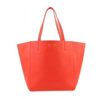 Celine Cabas Phantom Medium Red Leather Tote