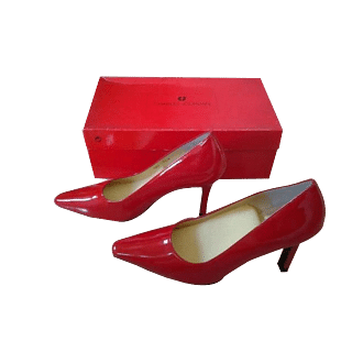 Charles Jourdan Red Patent Stiletto Heels