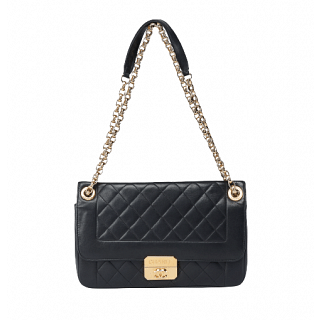 Chanel Quilted Lambskin Leather Chic With Me Flap Bag
