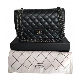 Chanel Classic Quilted Double Flap Jumbo Bag