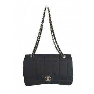 Chanel Chocolate Bar Quilted Flap Shoulder Bag