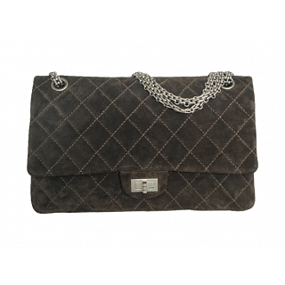 Chanel Quilted Jersey Fabric Reissue 2.55 Classic Flap Bag