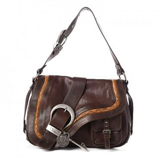 Christian Dior Brown Gaucho Saddle Handbag Bag