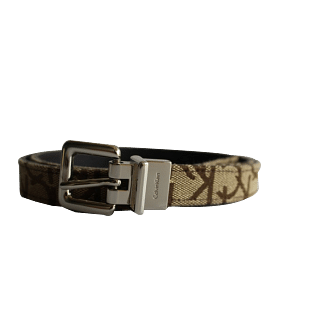 Calvin Klein Canvas Slim Monogram Belt | Luxepolis.com
