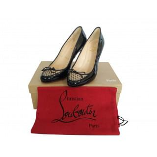 Christian Louboutin A La Peche 85 Patent Leather Pumps