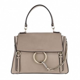 Chloe Small Motty Grey Faye Day Crossbody Bag