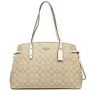 Coach Signature Drawstring Carryall Shoulder Bag