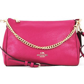 Coach Pebble Leather Carrie Crossbody