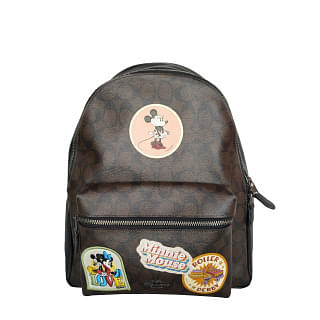 Coach Charlie Signature Minnie Mouse Patch Backpack