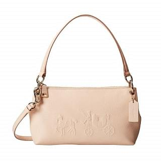 Coach Charlie 33521 Embossed Horse & Carriage Crossbody Bag