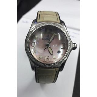 CORUM BUBBLE MOTHER OF PEARL DIAL DIAMOND BEZEL LADIES WATCH